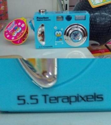 5.5テラ画素数のデジカメ