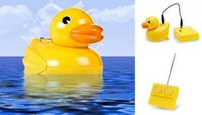 お風呂のアヒルちゃん、ついに泳ぎを覚える