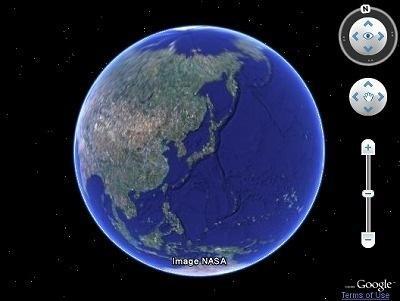 Google Earthがブラウザで利用可能に