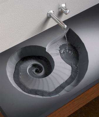 アンモナイト型洗面台