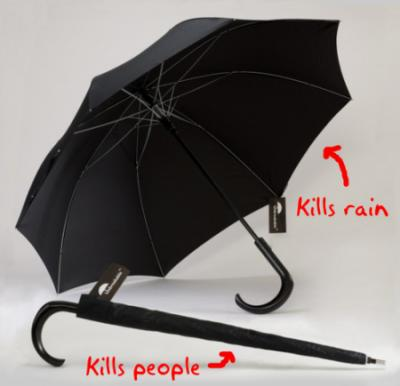 絶対壊れない戦闘用の傘
