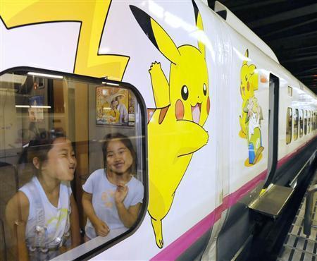 夏休みに「ポケモン新幹線」運行