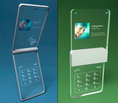 透明で超オシャレな携帯電話