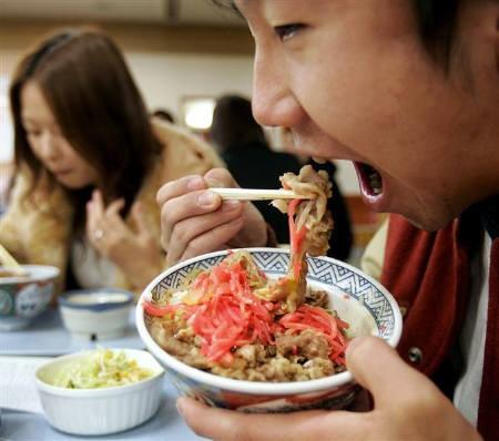 金融危機、日本では牛丼が人気
