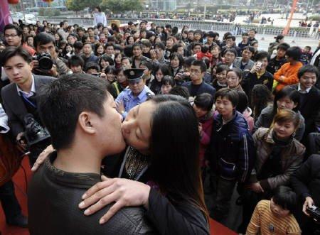 中国でキスコンテスト