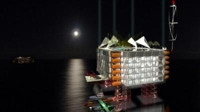 海に浮かぶ原油掘削機がホテルになる